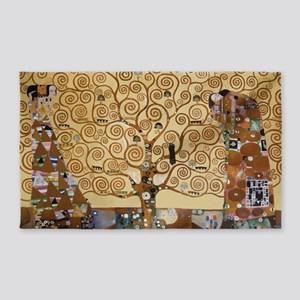 Gustav Klimt Tree Of Life 3'x5' Area Rug
